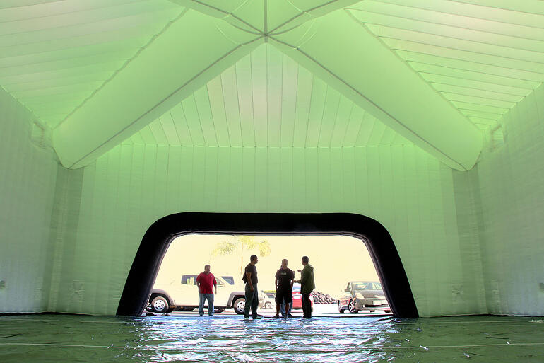 xbox inflatable canopy tent