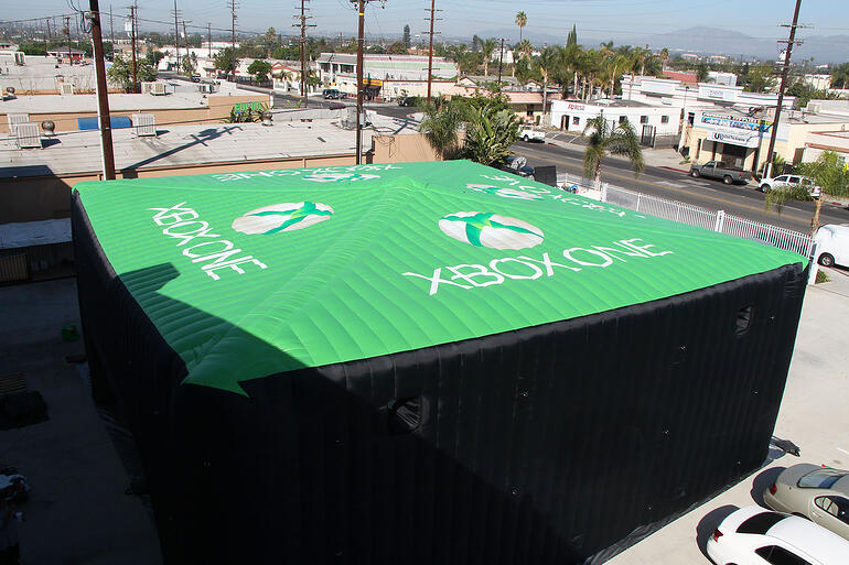 xbox inflatable tent exterior roof