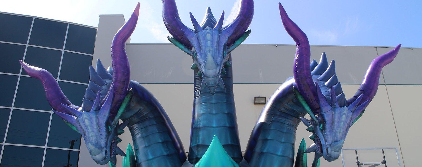custom-inflatable-dragon-with-three-heads