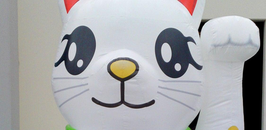 Call Miners Maneki Neko Lucky Cat Inflatable Animals