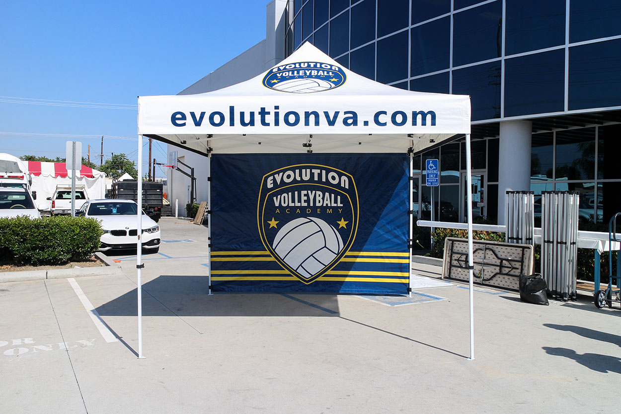 Evolution Volleyball Academy | Custom Canopy Tents