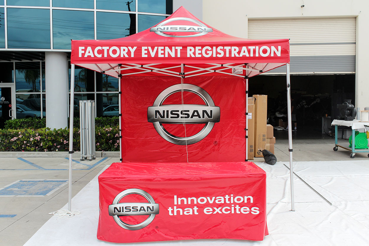Nissan knew this when they contacted us they were looking for the perfect tent to pave the way. With over 34 years of expertise we were the logical choice ... & Nissan | Custom Canopy Tents