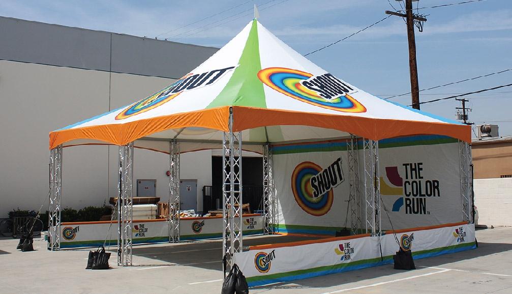 Shout Custom Printed Truss Frame Tent