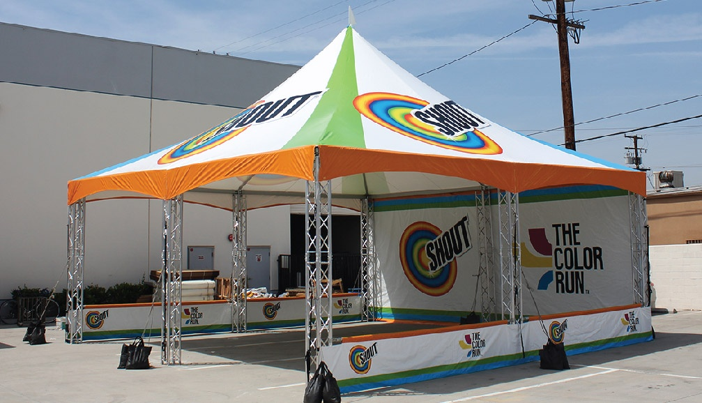 Shout Custom Printed Truss Frame Tent