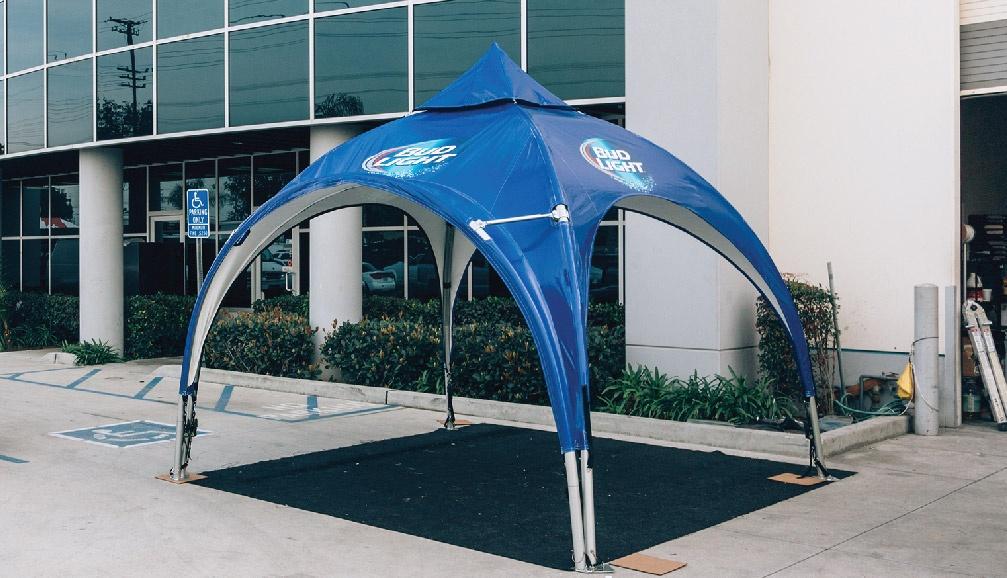 Bud Light Custom Printed Arch Frame Tent