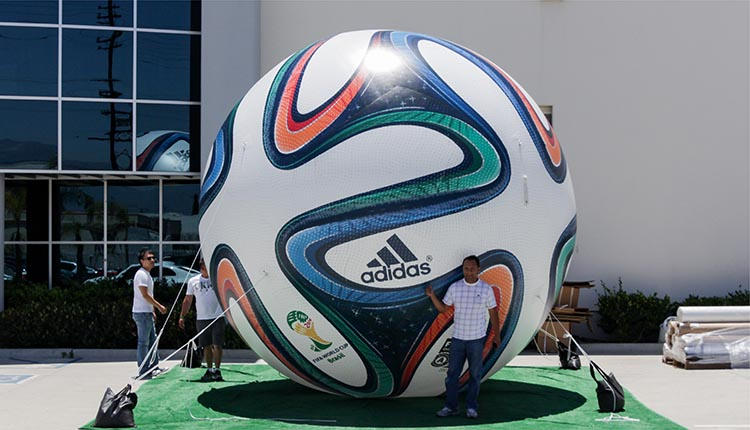 Inflatable Brazuca Soccer Ball replica for Adidas