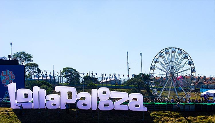Inflatable Lollapalooza sign for their music festivals around the world