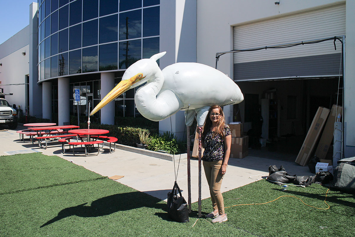 inflatable-egret-replica
