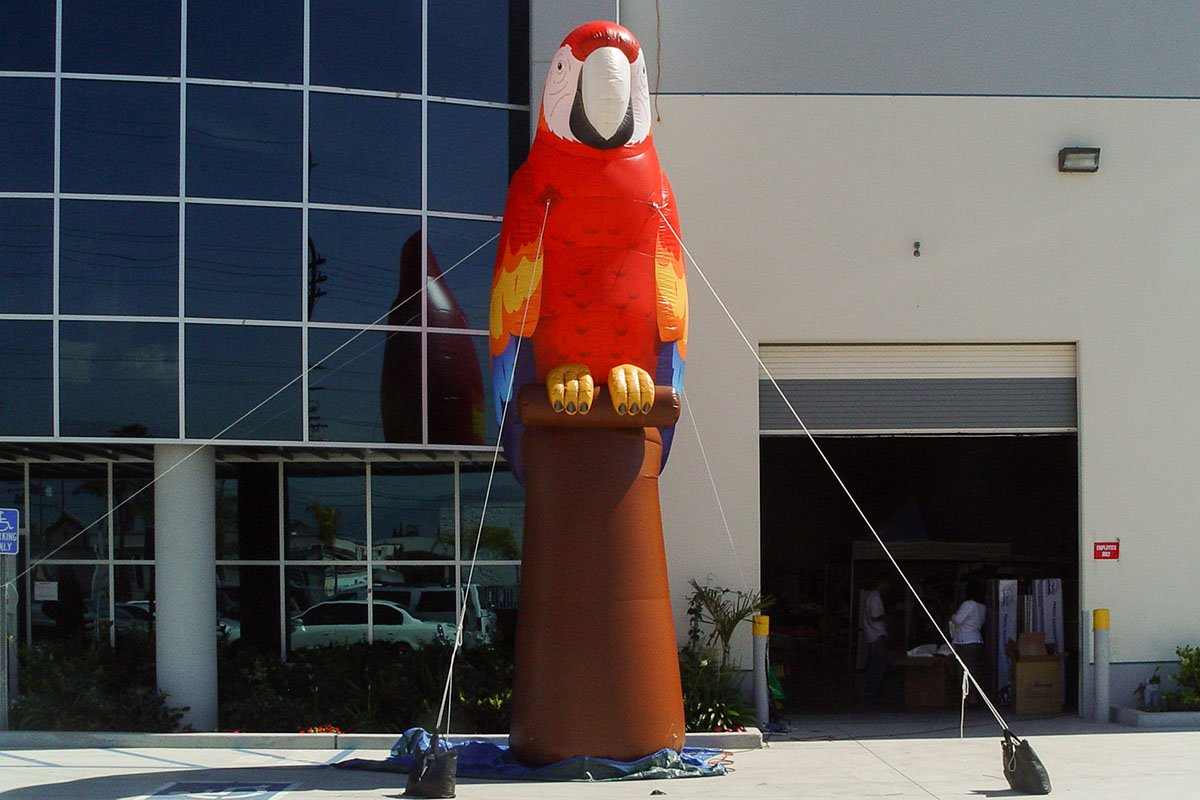 inflatable-parrot